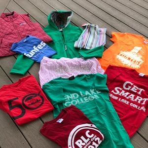 10 Pc. Rend Lake College Clothing!!  All Small